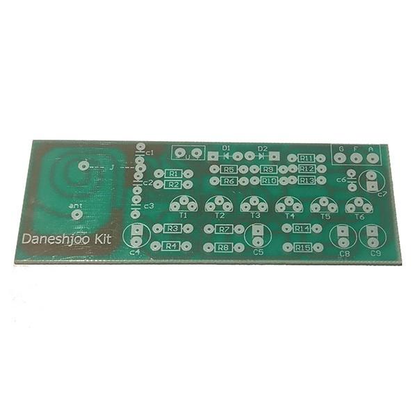 برد PCB مدار استراق سمع بی سیم با 5 مرحله تقویت