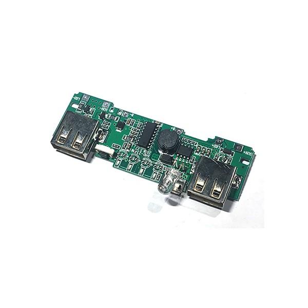 ماژول پاوربانک دو کاناله 5 ولت 2 آمپر Powerbank Module 2 channel با میکروسوئیچ و LED