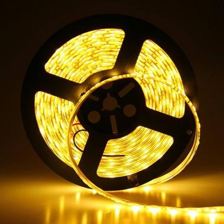 LED نواری زرد 5050 TFS ولتاژ 12 ولت 30 عدد ال ای دی در هر متر با روکش ضد آب