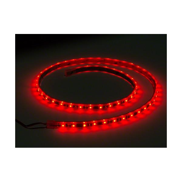 LED نواری قرمز 5050 TFS 12V با 30 ال ای دی LED در متر و روکش ضد آب