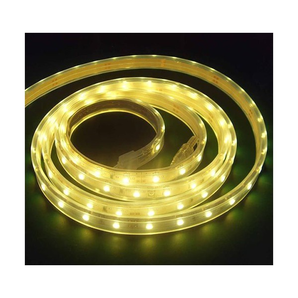 LED نواری زرد 3528 TFS 12V با 30 ال ای دی LED در متر و روکش ضد آب
