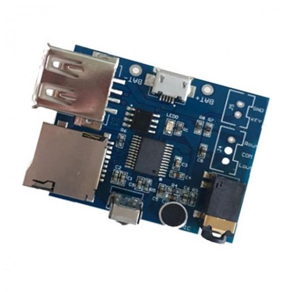 ماژول MP3 decoding با قابلیت WAV WMA به همراه ریموت مادون قرمز USB و میکروفن