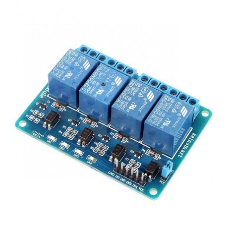 ماژول رله 12 ولت چهار کانال با اپتوکوپلر Relay Module 12 V