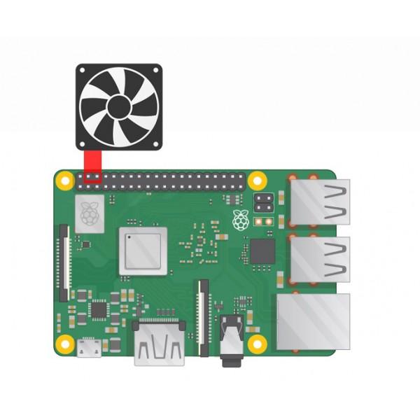 فن خنک کننده مخصوص رزبری پای Raspberry Pi Fan | دانشجو کیت