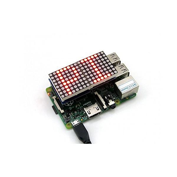 شیلد تابلو روان دات ماتریس برد رزبری پای RPI Dot Matrix shield با تراشه MAX7219