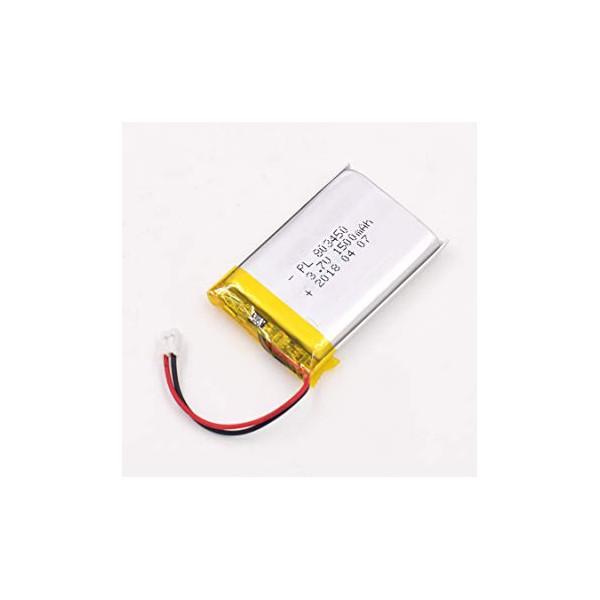 باتری لیتیوم پلیمر 1300mAh Li-Po 3.7V تک سل 60x35mm