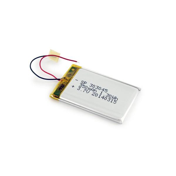 باتری لیتیوم پلیمر 3.7V با توان 300mAh