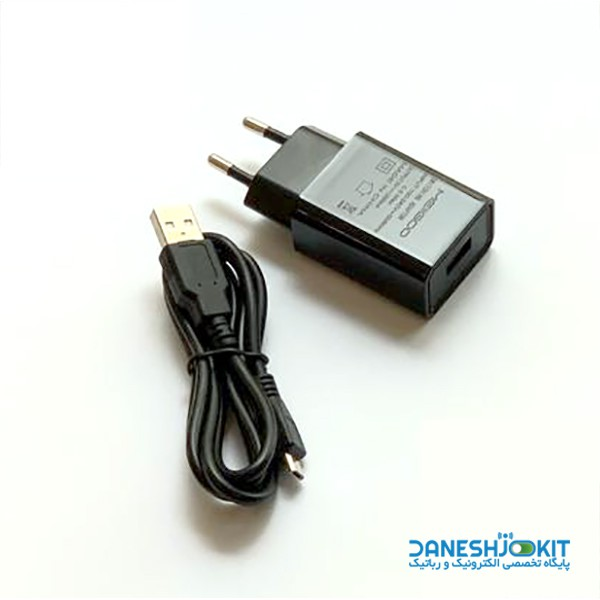 آداپتور USB ولتاژ 5 ولت 2 آمپر Meiigoo مناسب برای رزبری پای و بردهای امبدد