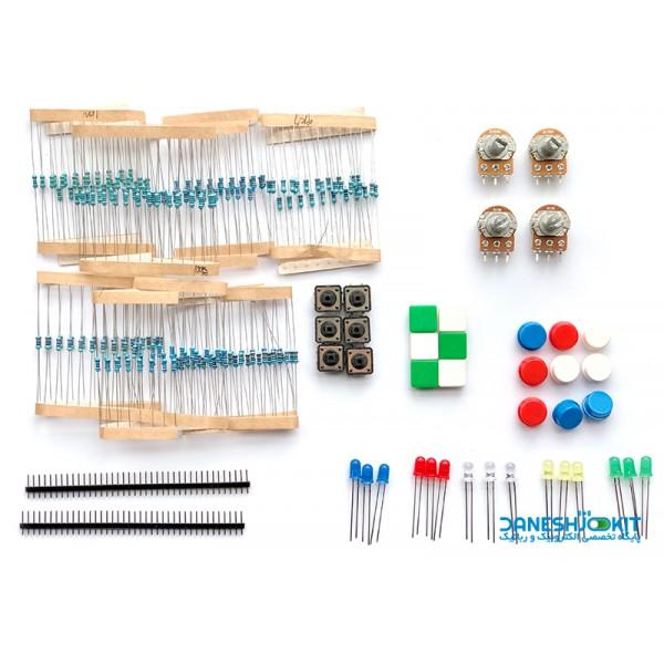 پک قطعات ابتدایی الکترونیک مناسب برای آردوینو و رزبری پای
