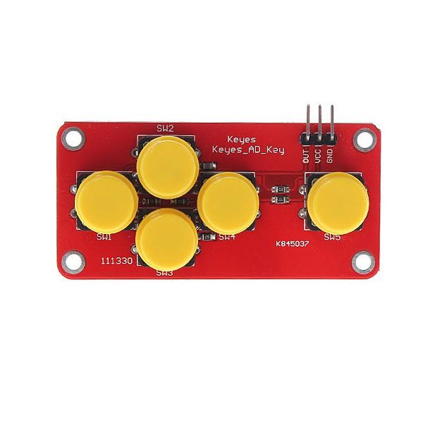 ماژول 5 کلید آنالوگ مخصوص آردوینو Arduino AD Keyboard