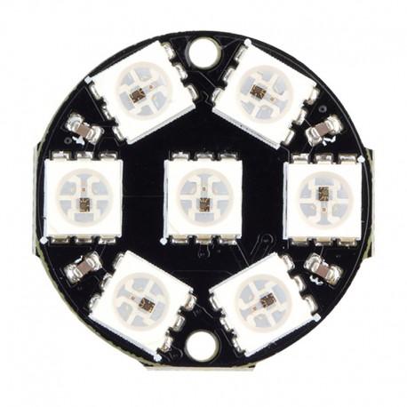 حلقه ال ای دی 7 تایی RGB WS2812B