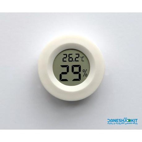 نمایشگر LCD پنلی دما و رطوبت گرد همراه با باتری AG13