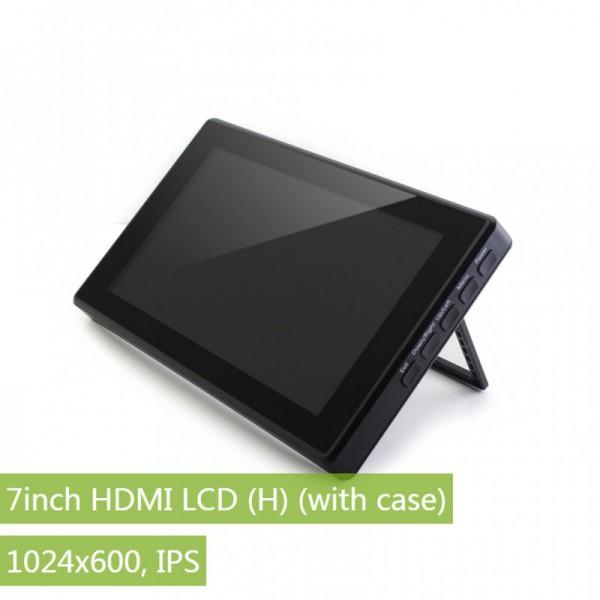 ال سی دی 7 اینچ مشکی Waveshare دارای خروجی HDMI, VGA مناسب برای رزبری پای و