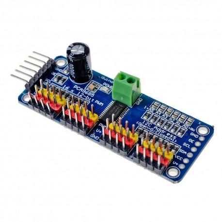 ماژول کنترل سروو موتور با آی سی PCA9685 | دانشجو کیت