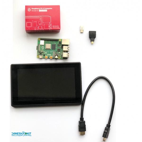 پک رزبری پای 4 Raspberry Pi و نمایشگر LCD Waveshare هفت اینچ