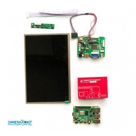 پک رزبری پای 4 Raspberry Pi و نمایشگر LCD 10.1 inch