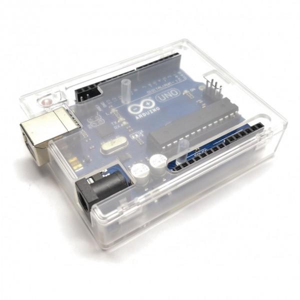 جعبه آردوینو Arduino UNO مشکی پلاستیک ABS