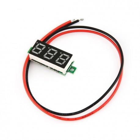 ماژول ولت متر پنلی 2 سیمه از 2 تا 30 ولت DC بدون قاب