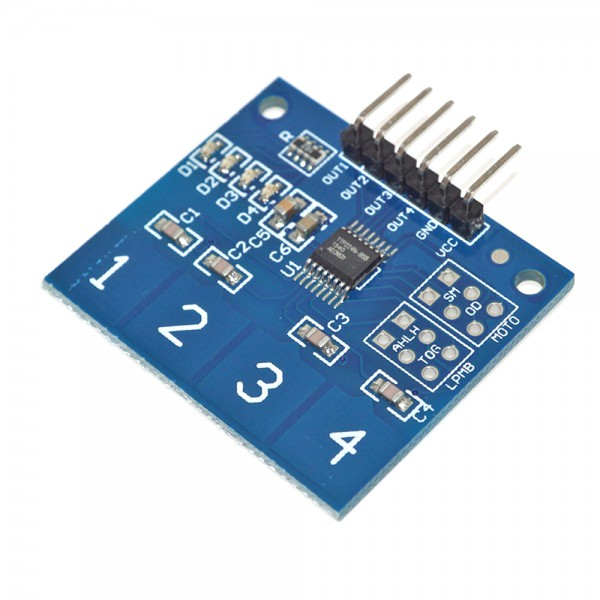 ماژول تاچ پد 1x4 ماتریسی Arduino Touch Pad Matrix