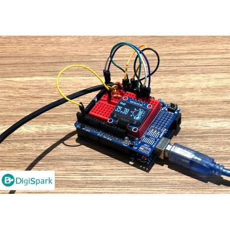 پروژه کدنویسی تب سنج کرونا با سنسور تماسی DS18B20