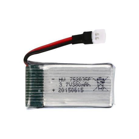 باتری لیتیوم پلیمر Li-Po مخصوص پهپاد 3.7V 380mAh Battery ابعاد 32X70X5mm