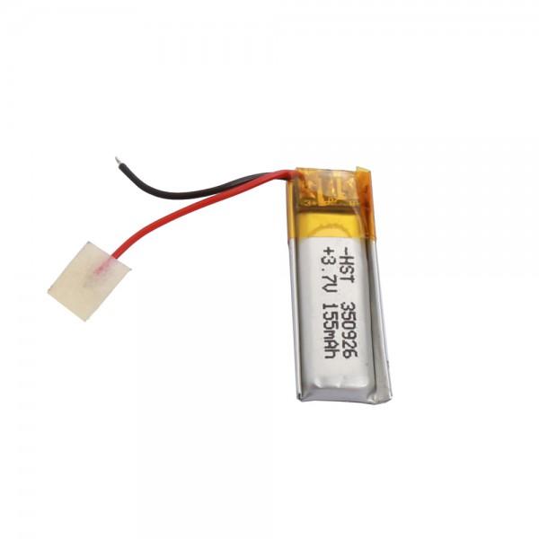 باتری لیتیوم پلیمر Li-Po 3.7V 155mAh تک سل 9x26mm