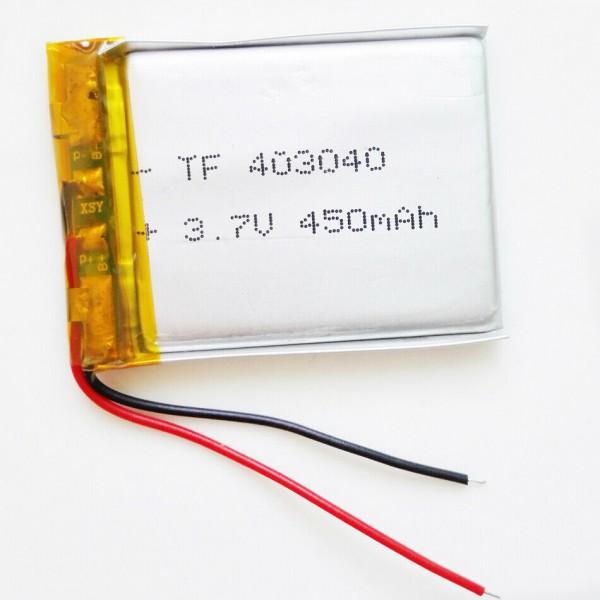 باتری لیتیوم پلیمر 500mAh تک سل با ابعاد 403040