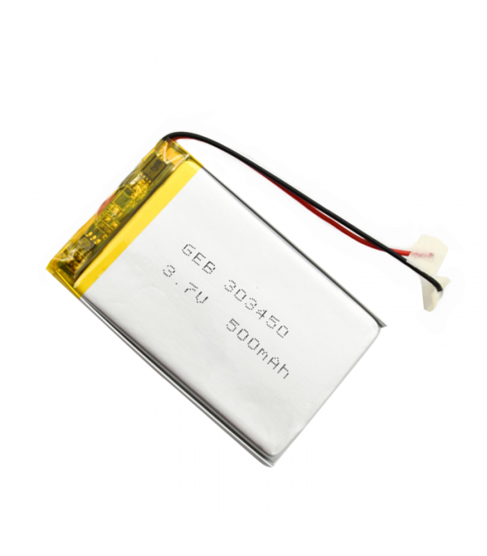 باتری لیتیوم پلیمر 500mAh تک سل با ابعاد 303450