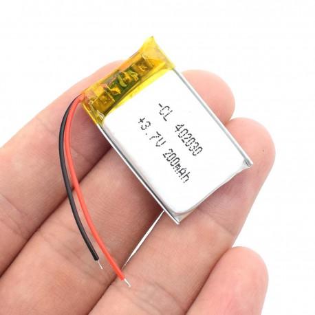 باتری لیتیوم پلیمر Li-Po 3.7V 200mAh تک سل 20x30mm