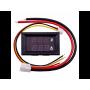 ماژول ولت متر آمپر متر رو پنلی تا 10 آمپر با کابل و سوکت با نمایشگر سگمنت قرمز - قرمز