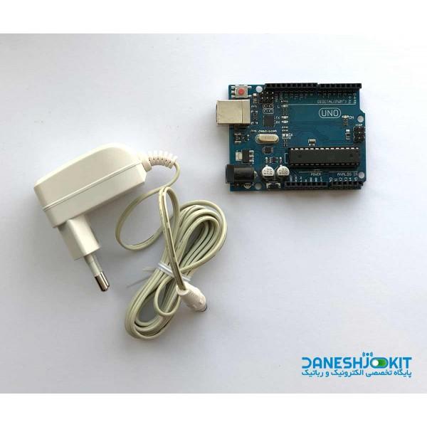 آردوینو Arduino UNO R3 به همراه آداپتور 9 ولت
