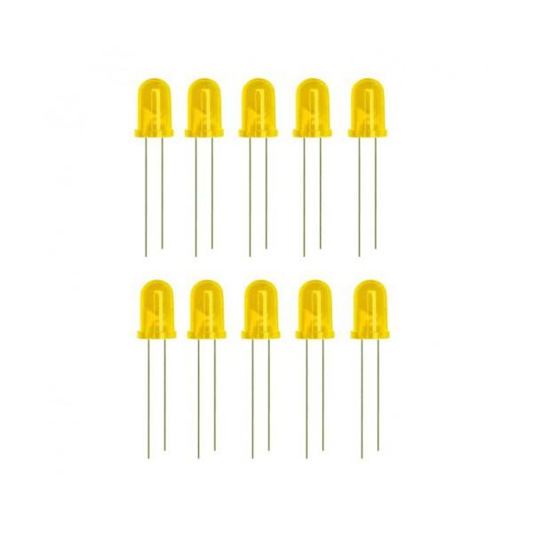 بسته 10 عددی ال ای دی 5 میلیمتری زرد