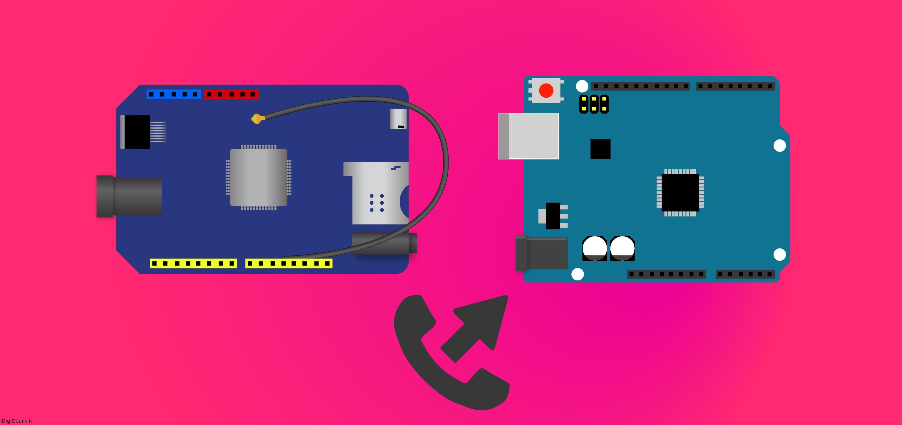 آموزش ایجاد تماس صوتی با شیلد Sim800C آردوینو - دانشجو کیت