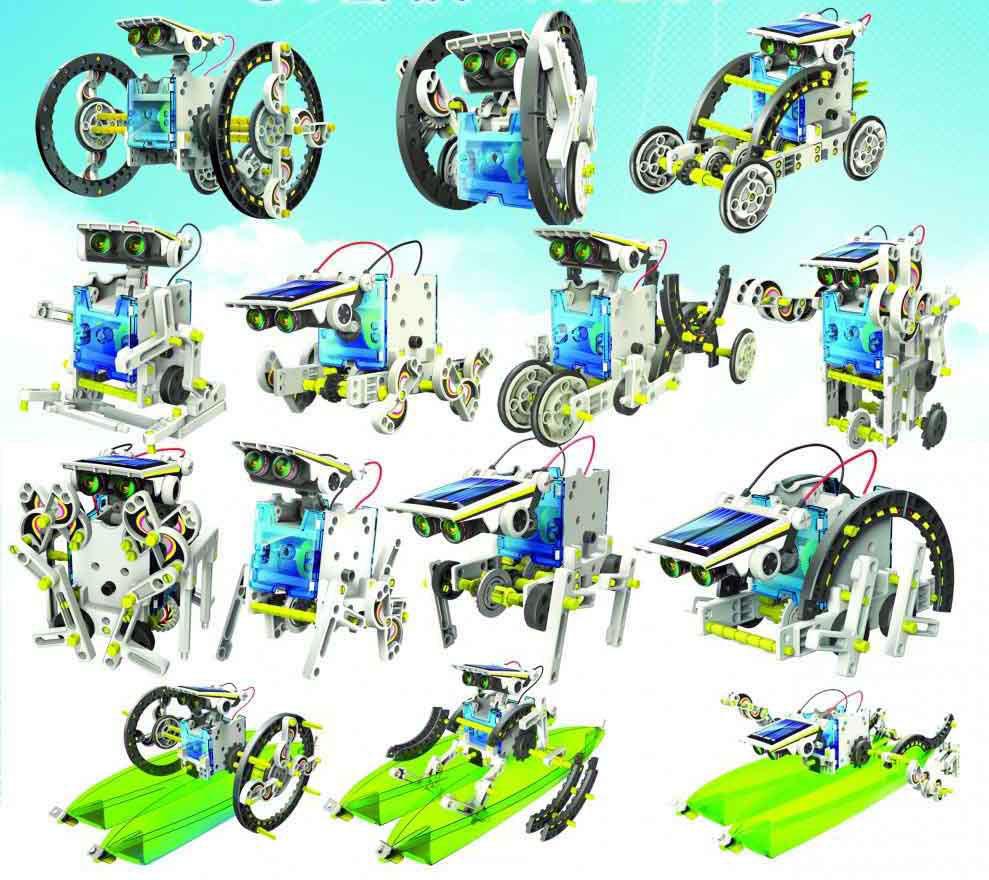 ربات خورشیدی 14 کاره با نقشه مونتاژ