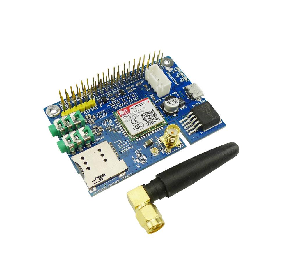 ماژول سیم کارت مخصوص رزبری پای Raspberry pi GSM Sim800C Shield